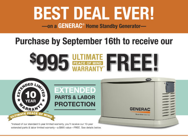 Generac Extended Warranty Offer Innovative Electrical