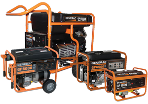 Innovative Electrical's page about Generac portable generators