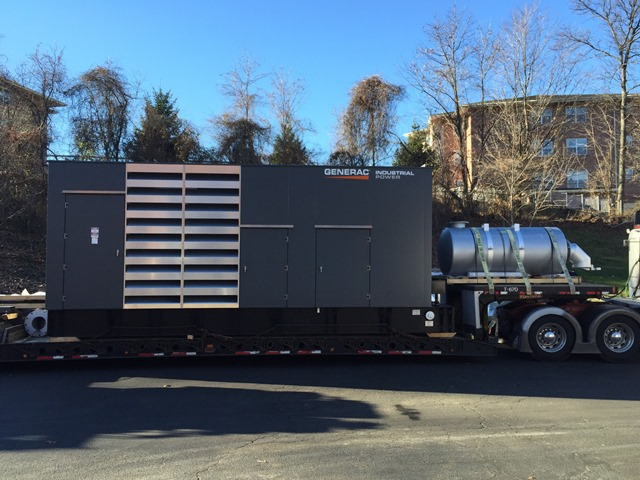 Installation of a 1 Meg (1000kw) Generac generator - Fairfield, NJ