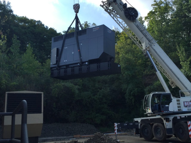 Installation of 2nd 600kw Generac generator - Fairfield, NJ