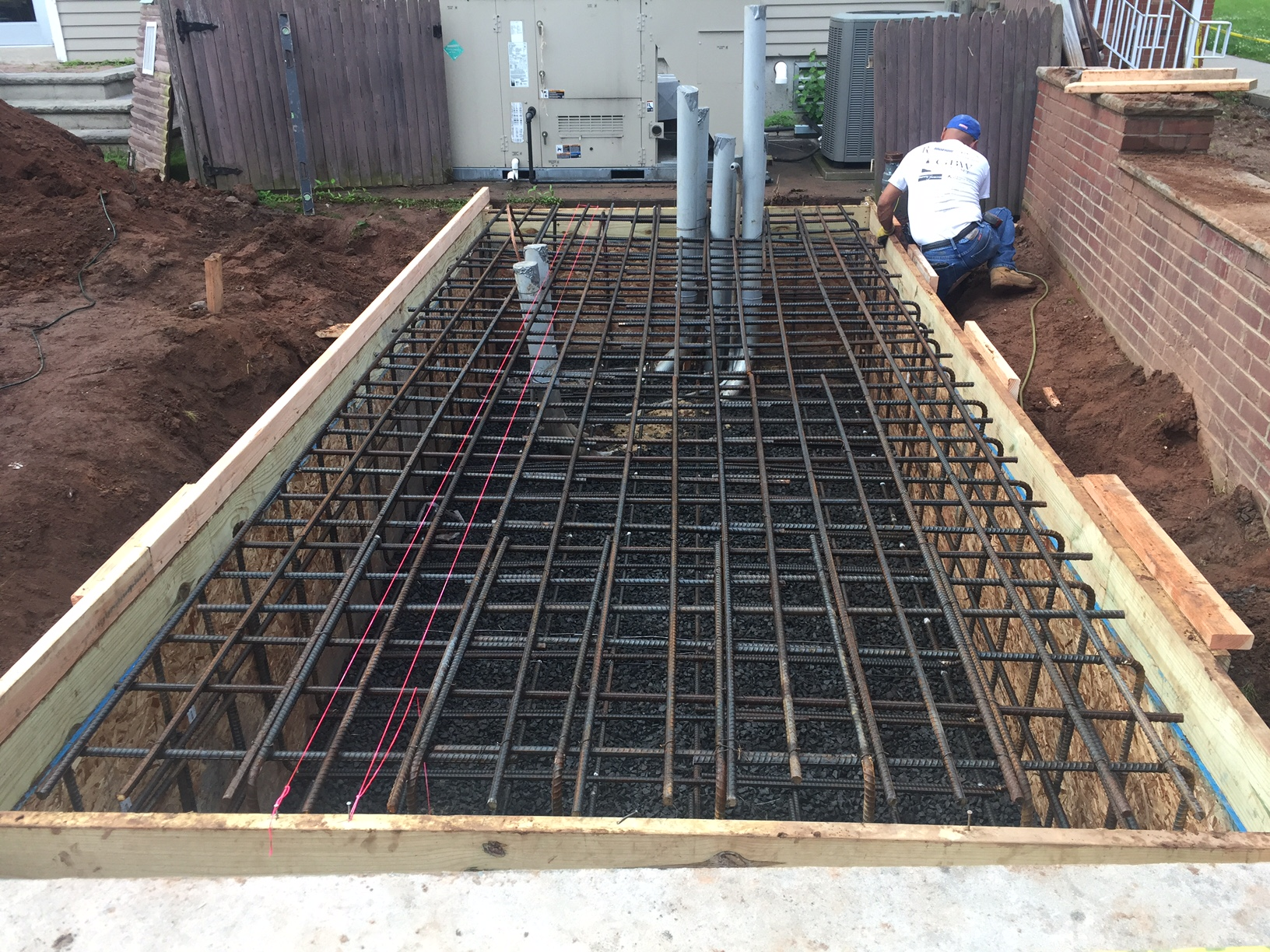 Ready to pour the concrete pad for the Installation of a Kohler Commercial Generator in North Plainfield, NJ