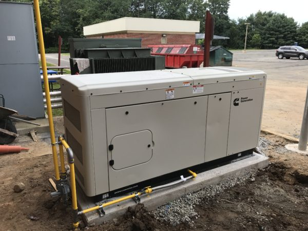 Installation of a Cummins Commercial Generator in Northern New Jersey