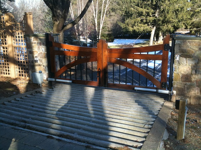 Installation of a driveway security gate - Mendham, NJ