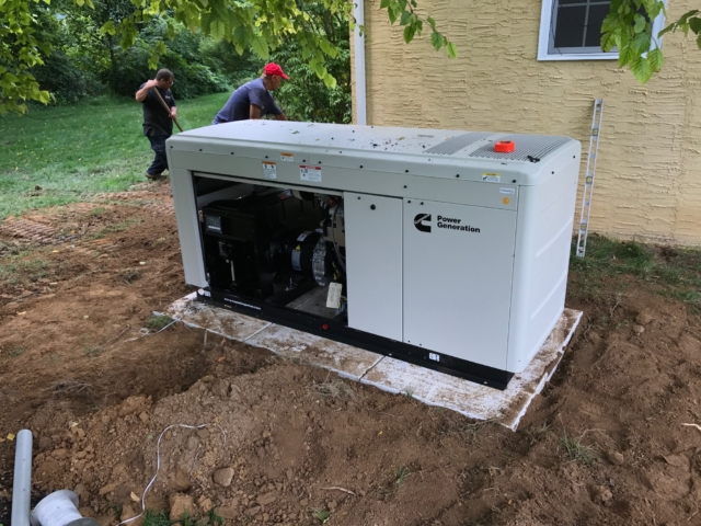 Installation of a Cummins Commercial Generator in Pennsylvania