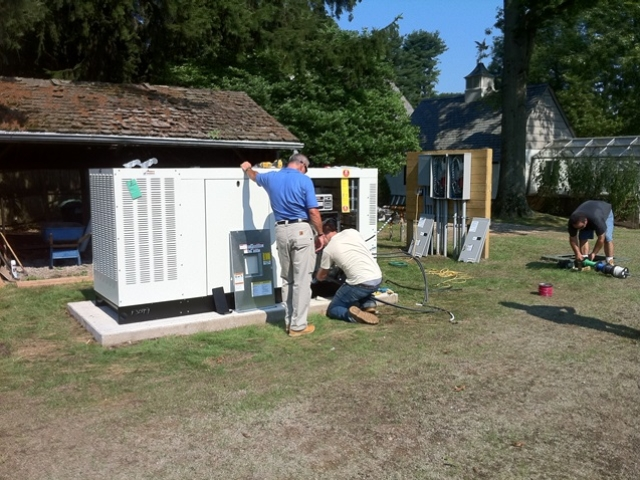 Installation of a 80kw Generac generator with (2) 200 amp Generac transfer switches - New Vernon, NJ