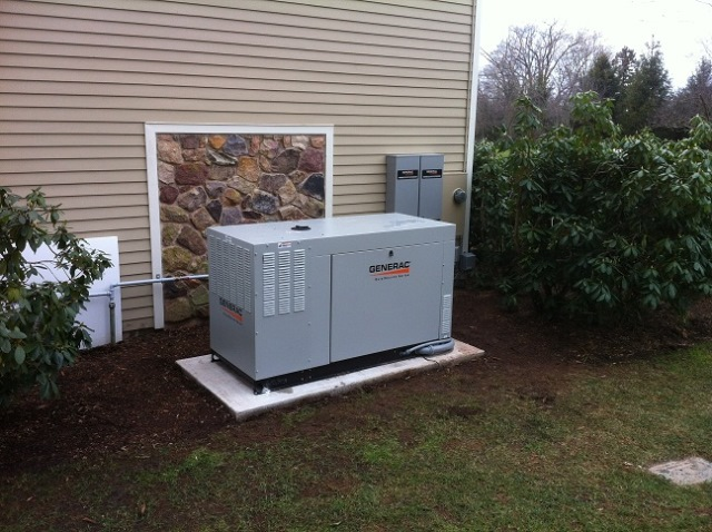 Installation of a 48kw Generac generator with (2) 200 amp Generac transfer switches - Morristown, NJ
