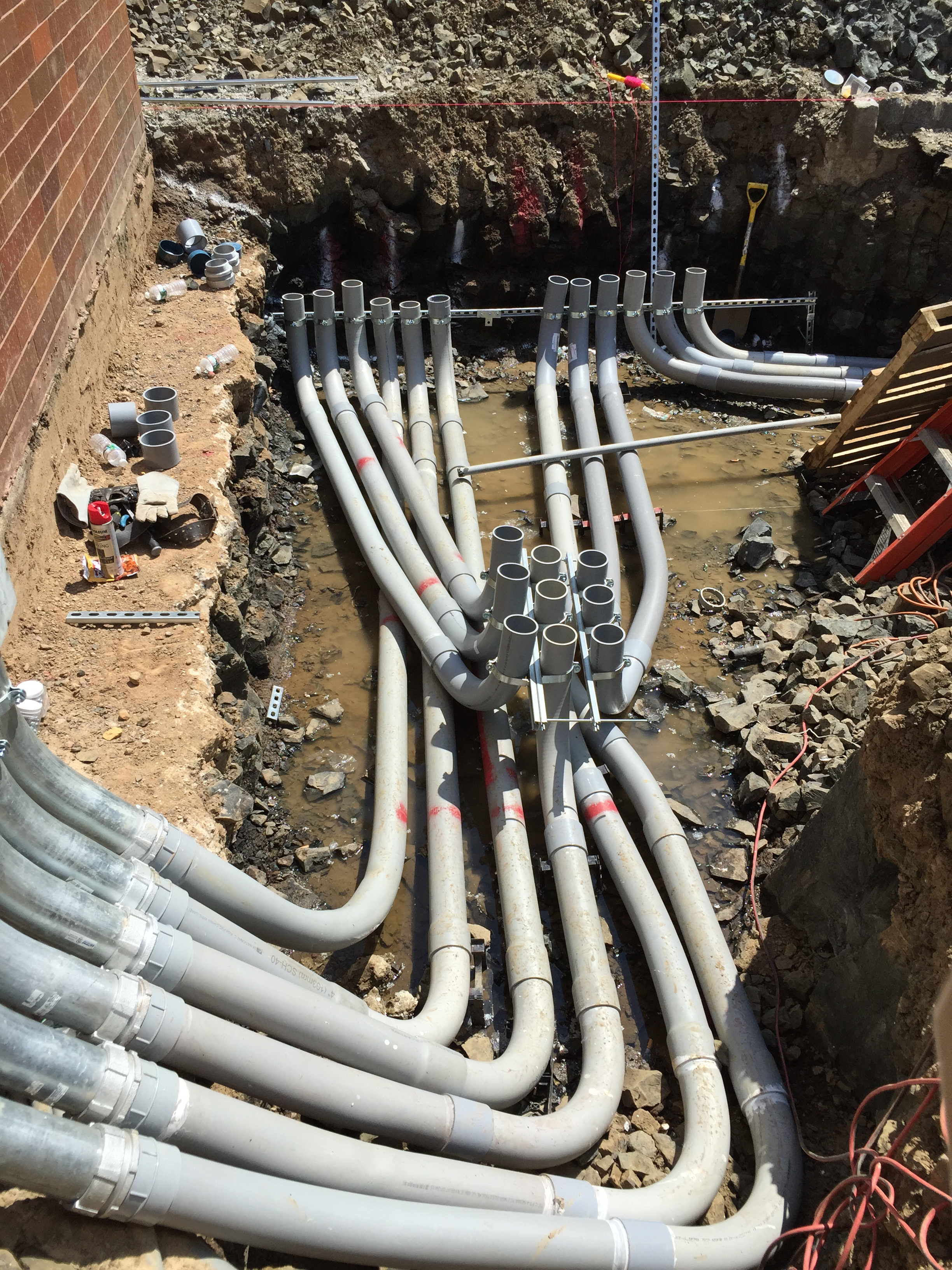 Conduit installation for a 800 amp bypass isolation transfer switch - Fairfield, NJ