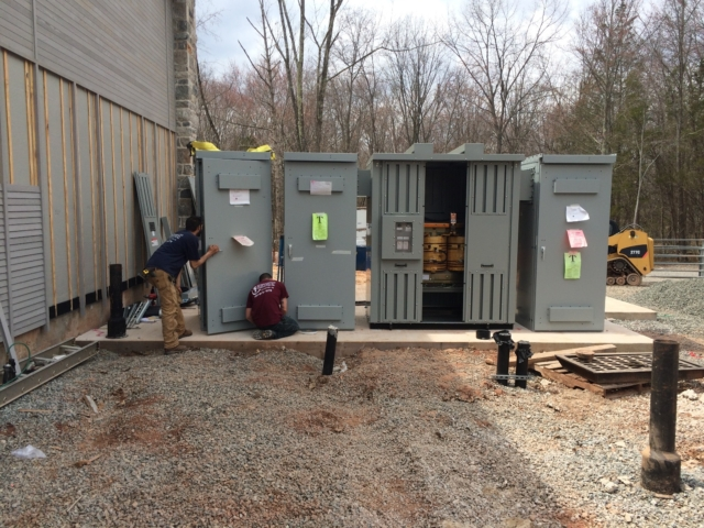 Installation of the Electric Service Switchgear at The Willow School in Gladstone, NJ