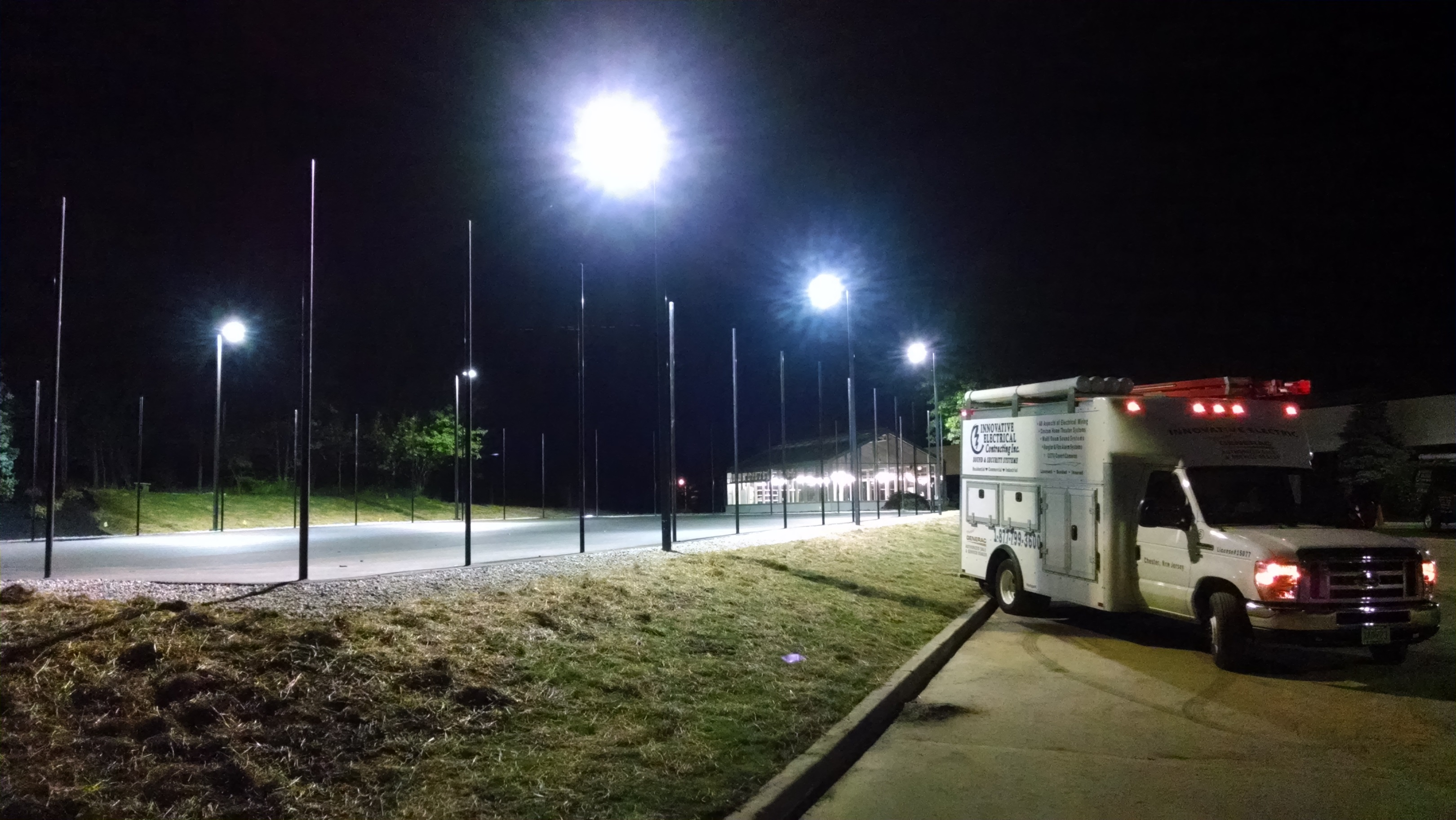 Tennis Court Lighting at The TCI School in Livingston, NJ