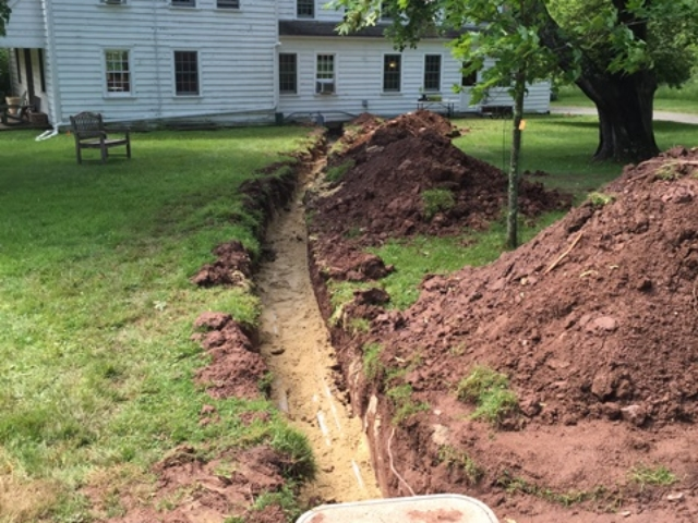 800ft of Trenching for a generator project in Bedminster, NJ