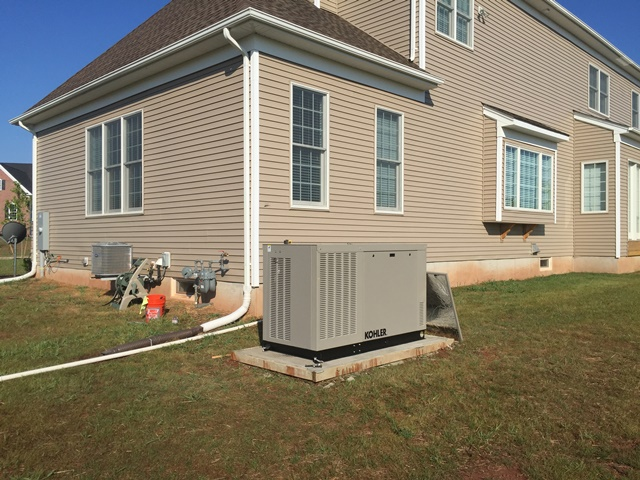 Installation of a 24kw Kohler generator - Branchburg, NJ