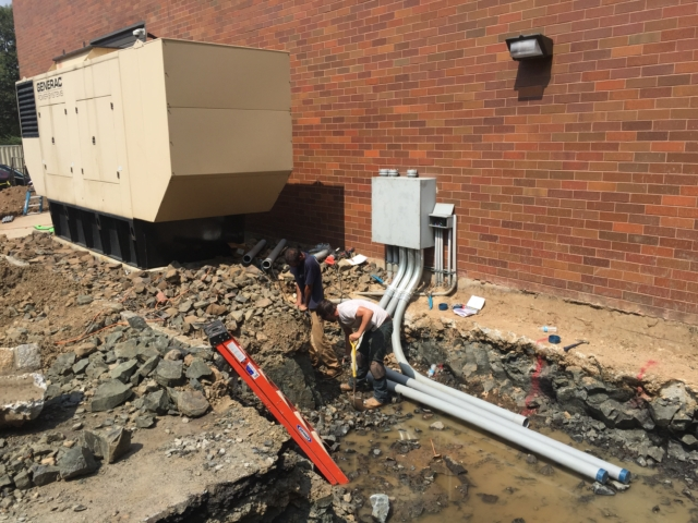 Conduit installation for a 800 amp bypass isolation transfer switch & ANOTHER 600kw Generac generator - Fairfield, NJ