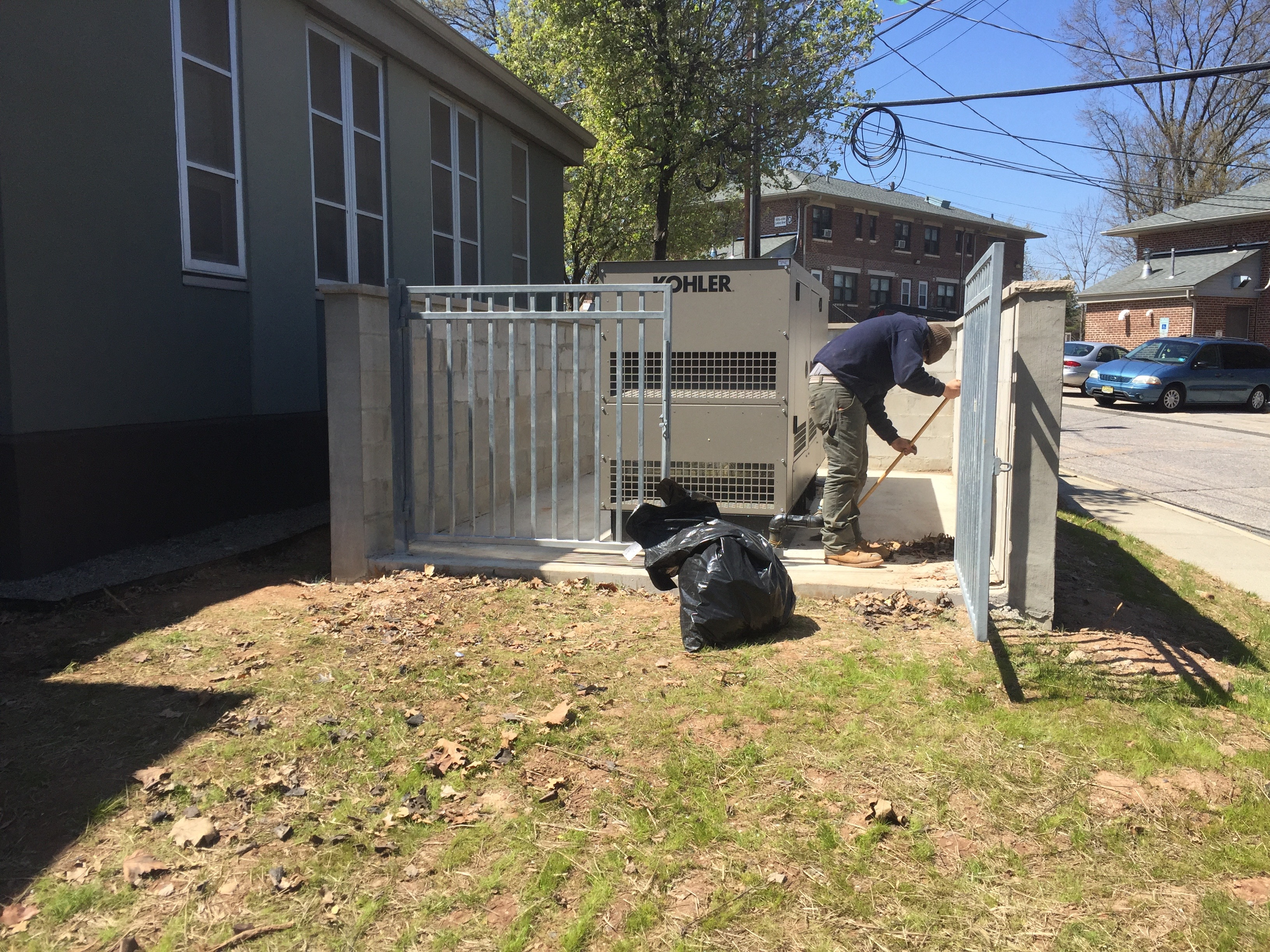 Installation of a 80kw commercial Kohler generator - Perth Amboy, NJ