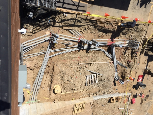 Aerial View of the Ground Rough for the Installation of 1 Meg ( 1000kw ) Generac Generator - Fairfield, NJ