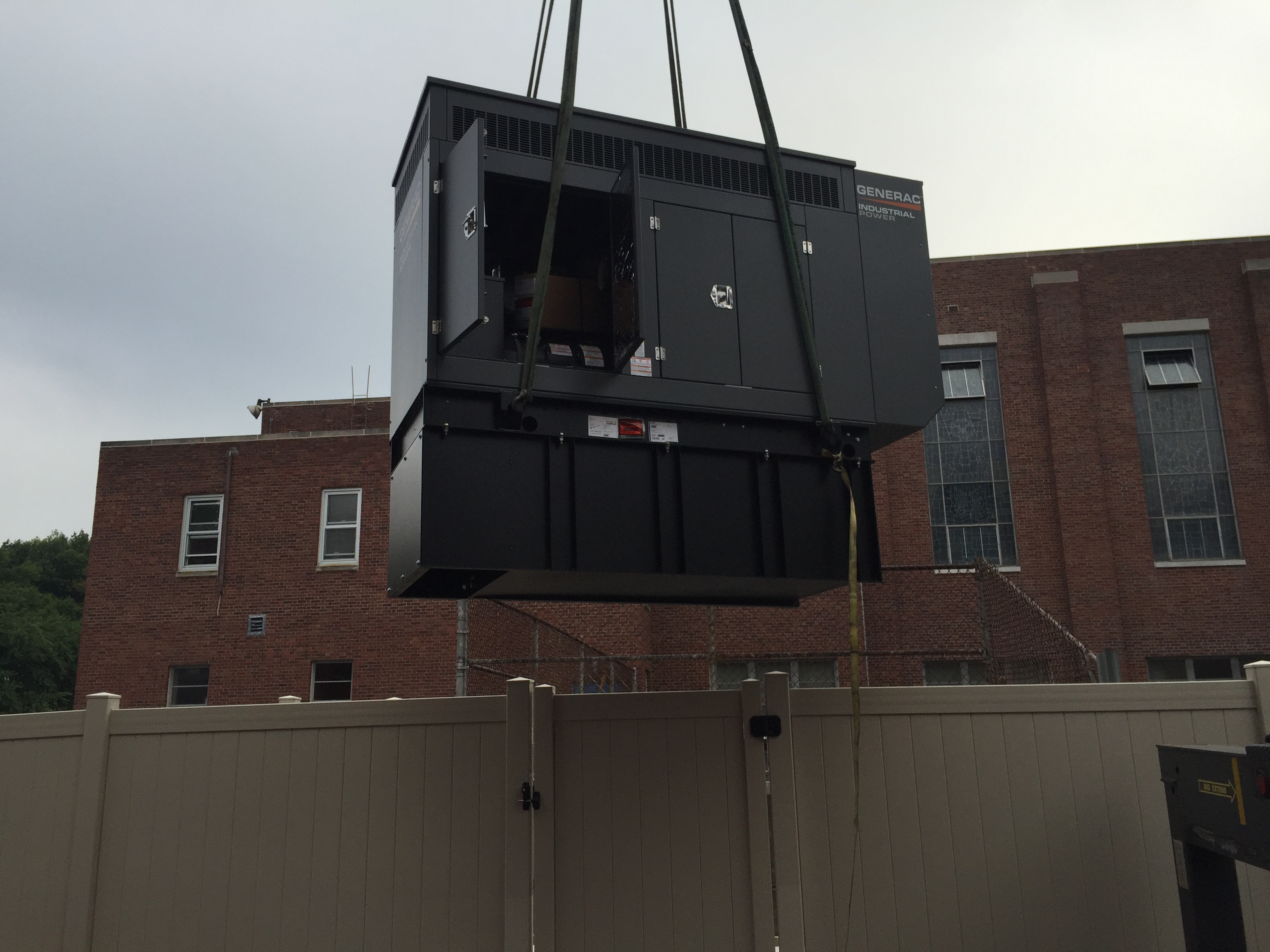 Installation of a 80kw Generac diesel generator - River Edge, NJ