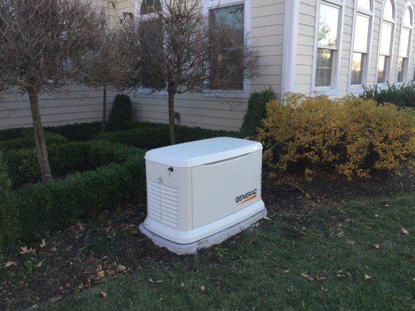 Installation of a 22kw Generac residential generator - Mendham, NJ