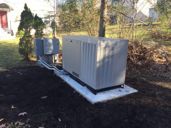Installation of a 24kw Kohler generator - Denville, NJ
