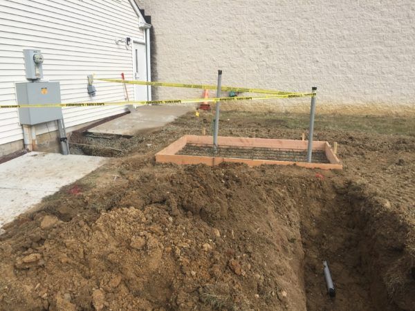 Ready to pour the concrete pad for the Installation of a 30kw commercial Generac generator - Lambertville, NJ