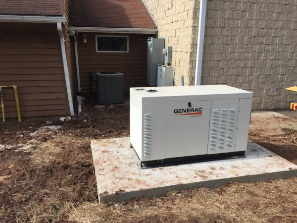 Installation of a 30kw commercial Generac generator - Pittstown, NJ