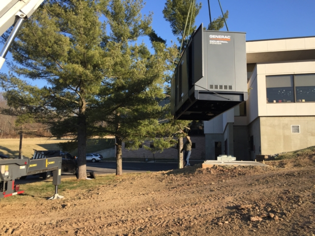 Installation of a 300kw commercial Generac generator - Flemington, NJ