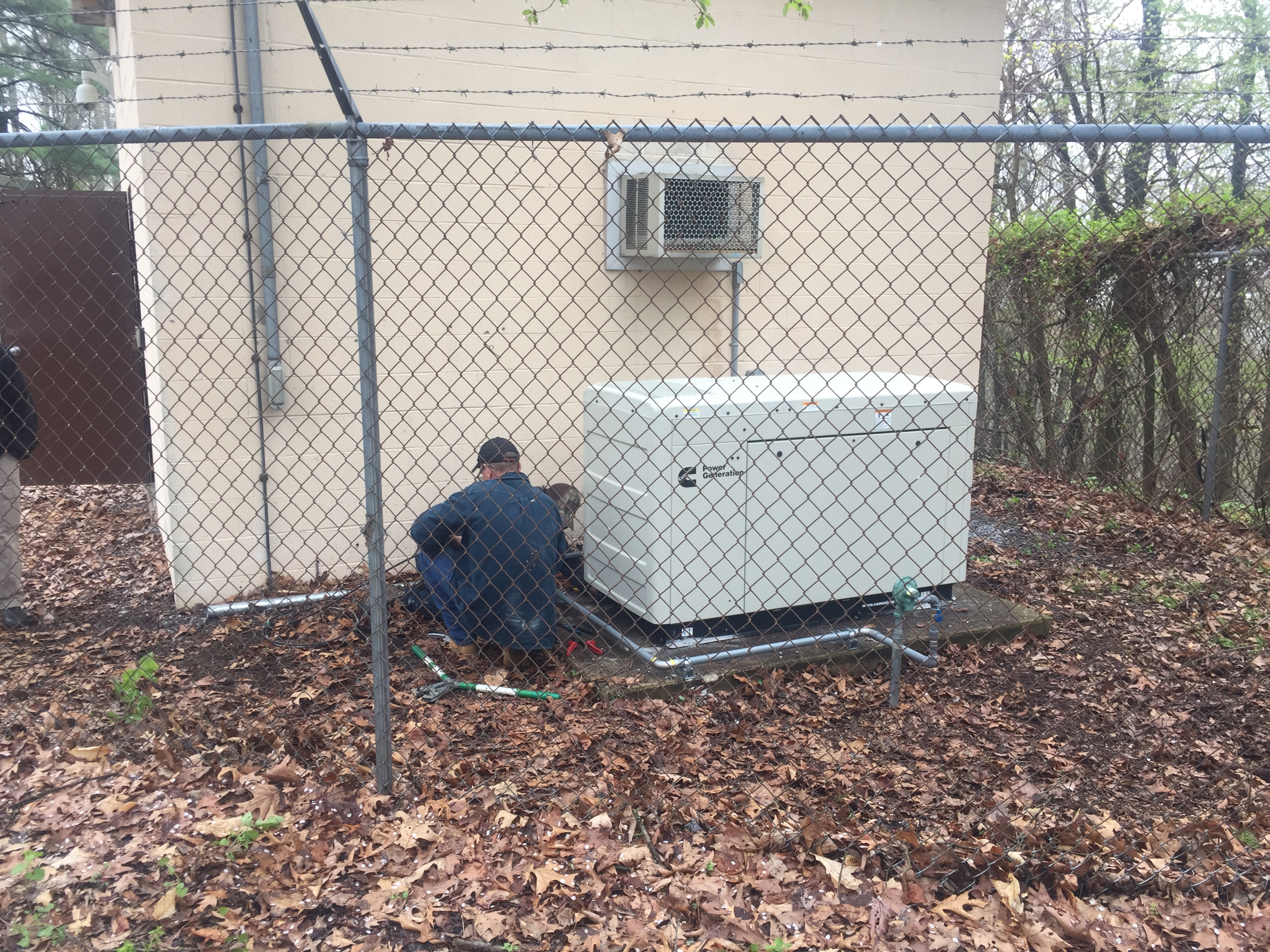 Installation of a 22kw Cummins commercial generator - Milford, NJ