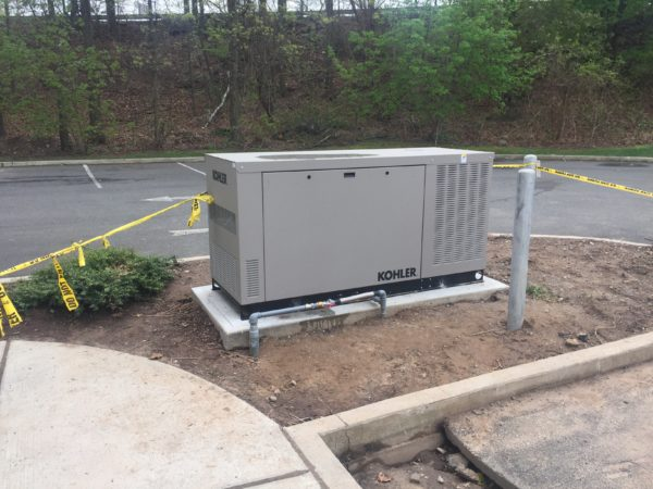 Installation of a 38kw Kohler commercial generator - Fairlawn, NJ