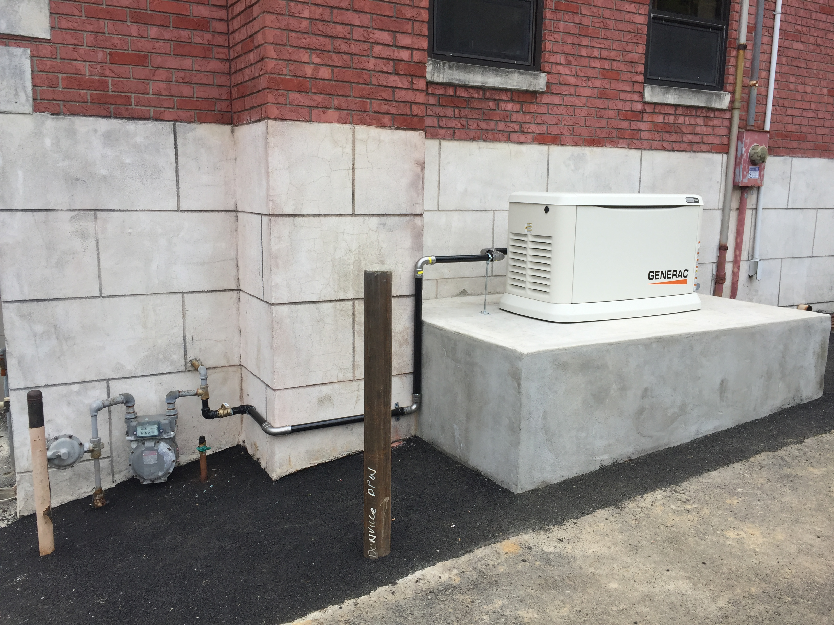 Installation of a 22kw Generac generator - Denville, NJ