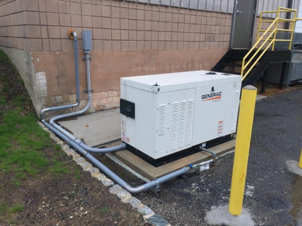 Installation of a 30kw Generac commercial generator - Ledgewood, NJ