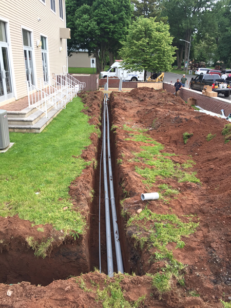 Trenching and running Conduit for Kohler Commercial Generator in North Plainfield, NJ