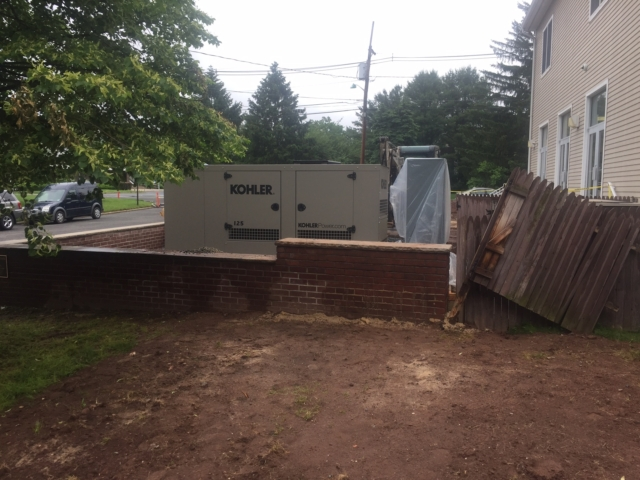 Installation of a Kohler Commercial Generator in North Plainfield, NJ