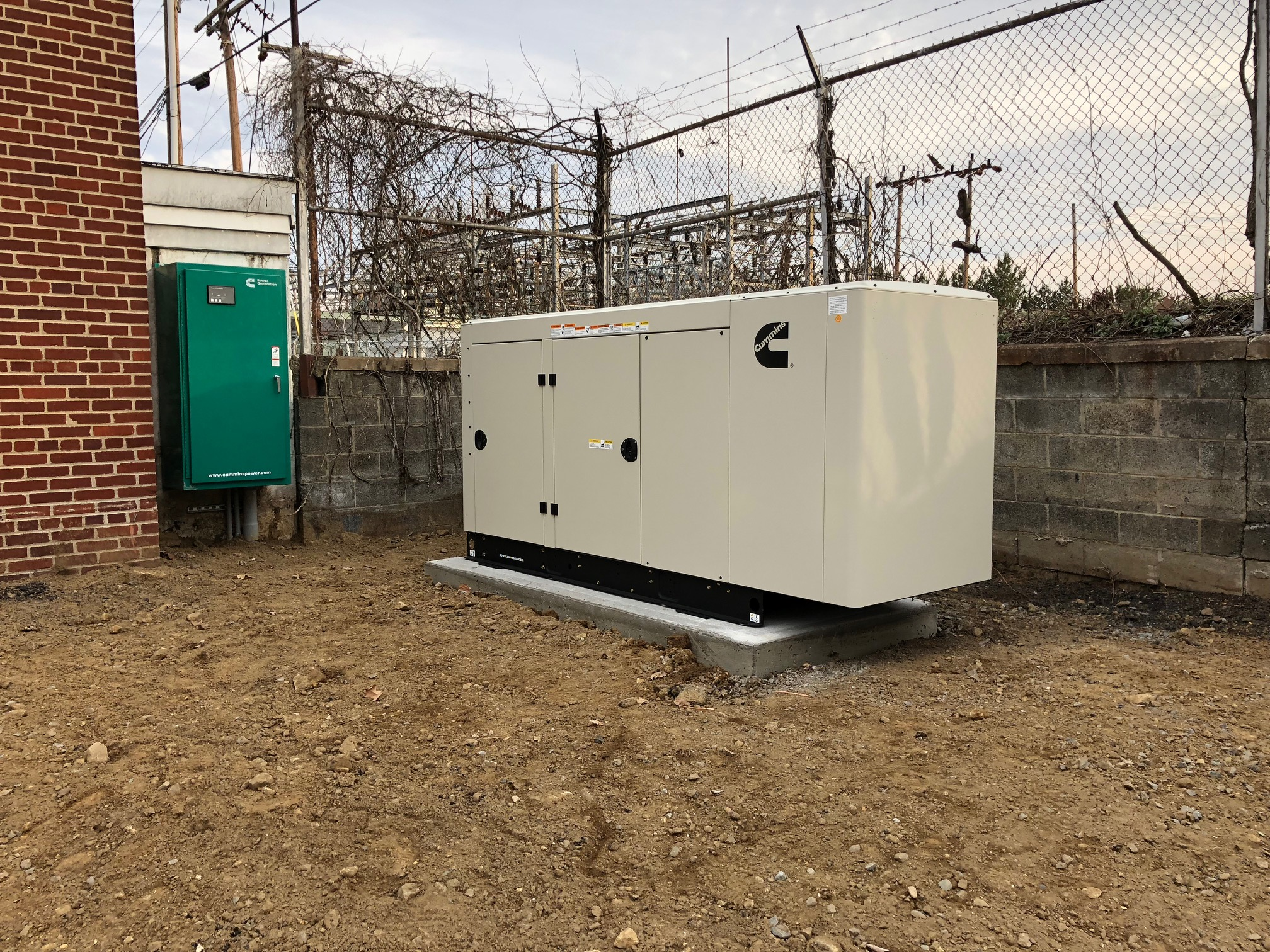 Generator Install, Cummins commercial generator, Municipal Building Hackettstown NJ
