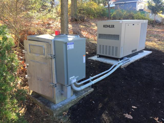Denville pump station 24KW Kohler generator