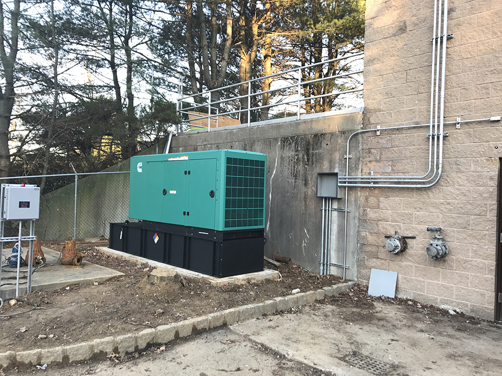 Mendham NJ pump station 100 kW Cummins Diesel generator