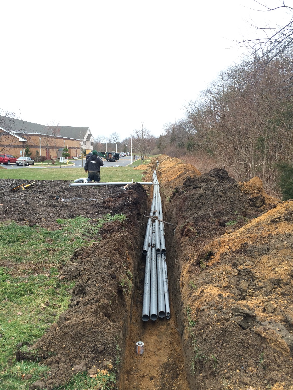 Running Conduit for Caterpillar Generator Relocation Project in Toms River, NJ