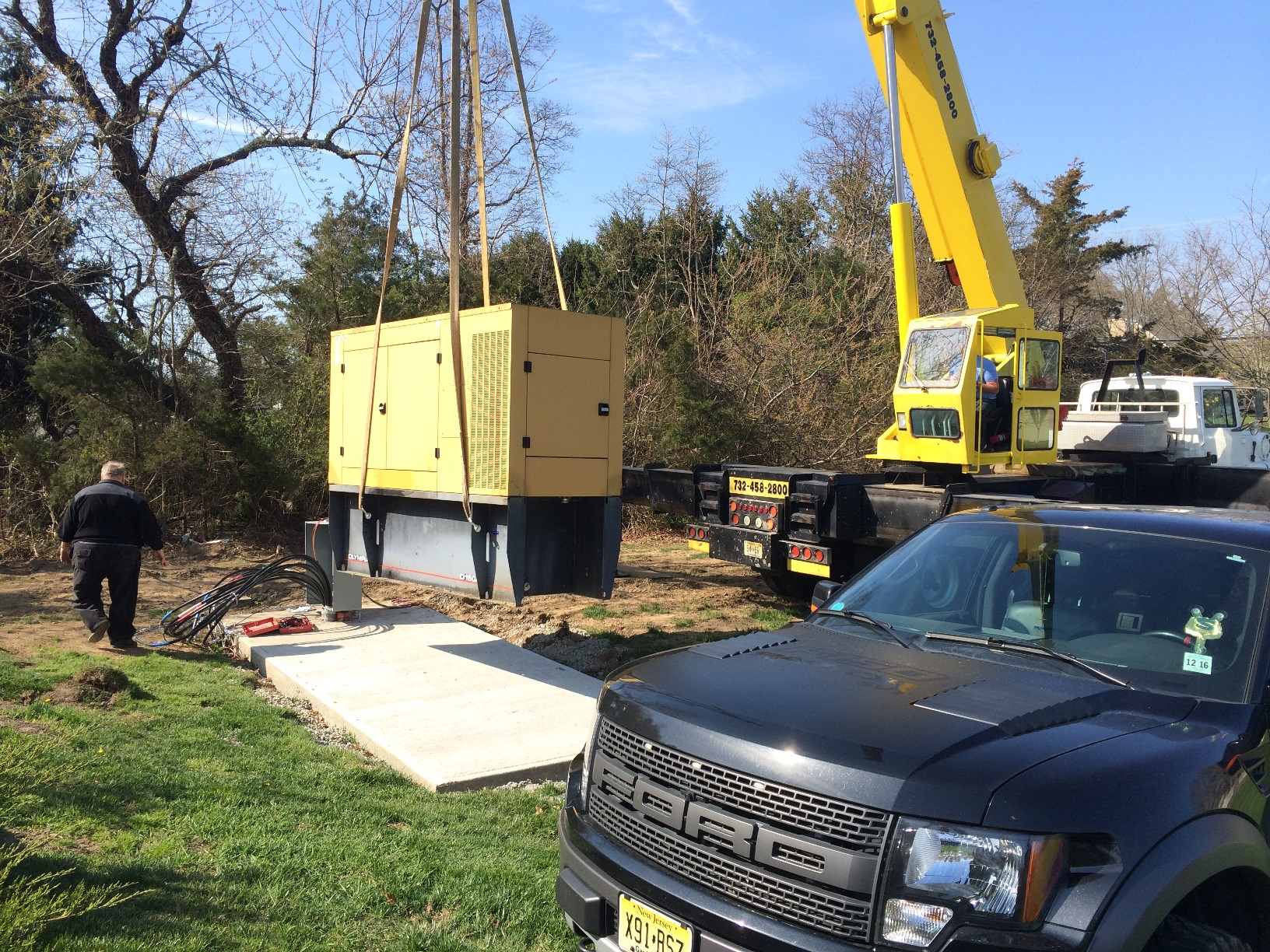 Pulling Wire for a 150kw Caterpillar Generator Relocation Project in Toms River, NJ