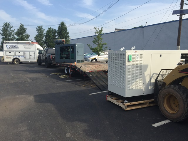 Installation of a 80kw Generac Generator - New Brunswick, NJ